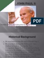 POPE JOHN PAUL II.powerpoint Presentation