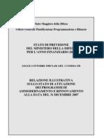 Relazione Programmi Arma 2007 RIS