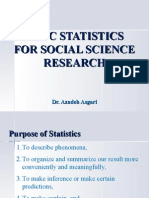 Basic Statistics for Social Science Research * Dr. Azadeh Asgari