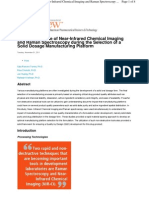 Concomitant Use of Near-Infrared Chemical Imaging and Raman Spectroscopy During the Selection of a Solid Dosage Manufacturing Platform