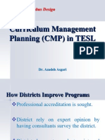 Curriculum Management Planning in TESL  * Dr. Azadeh Asgari