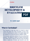 Curriculum Development & Evaluation  * Dr. Azadeh Asgari
