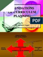 Foundations of Curriculum Planning  * Dr. Azadeh Asgari