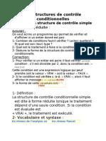 Les structures de contrôle conditionnelles1