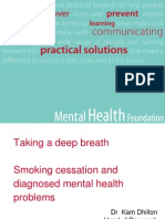 Taking a Deep Breath, Smoking Cessation and Diagnosed Mental