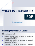 What is Research? * Dr. Azadeh Asgari