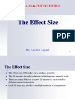 The Effect Size * DR. Azadeh Asgari