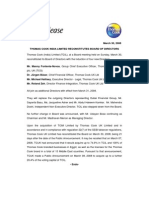 Thomas Cook Annual Results Press Release March 2008