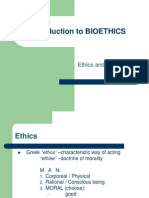 Introduction to BIOETHICS End Determinants Good Acts