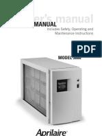Aprilaire 5000 Manual