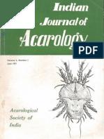 Indian Journal of Acarology Vol2(1)