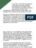 Zodiac Model Descriptions Final