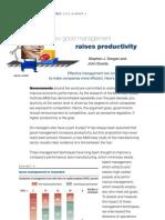 How Good Management Raises Productivity
