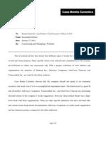 FIN402-Risk and Return Tradeoff Memo