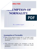Assumption of Normality * Dr. Azadeh Asgari
