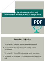 Chapter - 4 & 6 (Exchange Rate Determination & Goverment Influence on Exchange Rate)