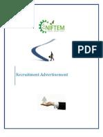 Detailed Recruitment Advertisement 30.1.12
