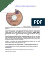 Cara Membuat Windows XP Bajakan Menjadi Original Asli