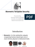Biometric Template Security