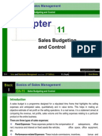 Chapter 11 Sales Budgeting and Control-Sales and Distribution Management