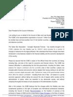 Lettera del Presidente CCBE a Mario Monti