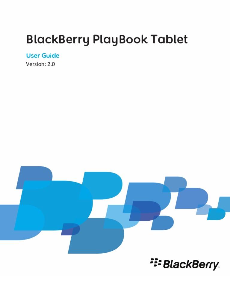 blackberry playbook tablet user guide version 2 0 blackberry rh scribd com Verizon BlackBerry Curve User Guide BlackBerry Pearl 8130 User Guide