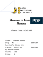 Assignment of Computer Networks