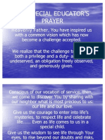 THE SPECIAL EDUCATOR'S PRAYER