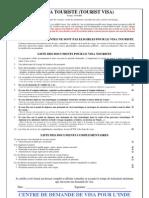 Checklist FR Le Visa Touriste18112011