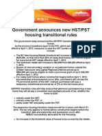 Government Announces New HST/PST Housing Transitional Rules