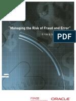 Managing Risk Fraud Error 351078