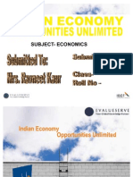 Indian Economy Oppurtunties Unlimted