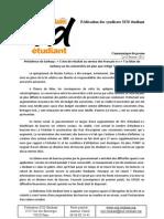 CP- Bilan de Sarkozy sur les universités