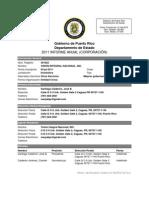 Informe anual (Corporación) 2011