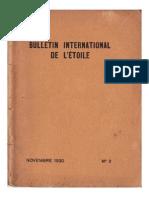Bulletin International de L'Étoile N°2 Novembre 1930 par Krishnamurti