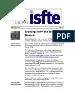 ISfTE Newsletter 32 Feb 2012
