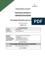 SARA VILLACIS Tecnologia Educativa para la Gestión