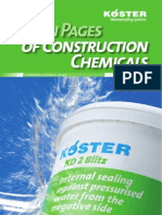 KOESTER Green Pages of Construction Chemicals 2012