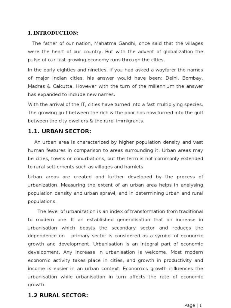 development an impetus to urbanization essay Essays - largest database of quality sample essays and research papers on causes of urbanization urban change is the change in all urban development.