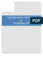 Calendarul Popular Al Romanilor