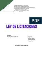 TRABAJO SOBRE LA LEY DE LICITACIONES EQUIPO ORLANDO, YOLYMAR Y YADIRA