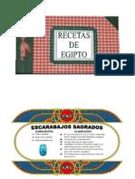 RECETAS DE EGIPTO