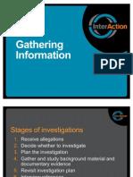SEA Investigations WOrkshop Session 4 - Gathering Information