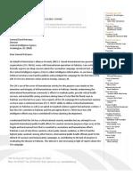Letter to General David Petraeus