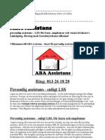 ABA Assistans personlig assistans - LSS för barn, ungdomar och vuxna brukare i Linköping, företag med Socialstyrelsens tillstånd, som vill mer