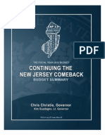 The Governor's FY 2013 Budget Summary