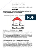 ABA Assistans personlig assistans - LSS för barn, ungdomar och vuxna brukare i Mjölby, företag med Socialstyrelsens tillstånd, som vill mer