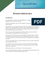 Kevin Falcon's 2012 Budget Speech