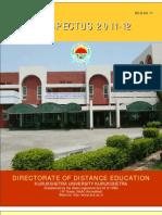 Kurukshetra University B_ed_ Prospectus 2011-12
