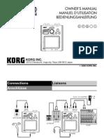 Mini Kaoss Pad Owner Manual